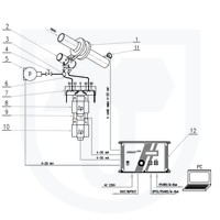 Měření tepla předaného parou, přímá metoda, clonový měřič s dvojitou kondenzační nádobou a se 2 snímači tlakové diference v kaskádním zapojení