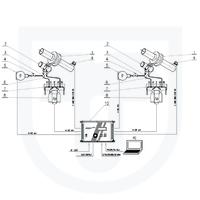 Měření tepla předaného parou, přímá metoda, dvouokruhový clonový měřič s dvojitou kondenzační nádobou