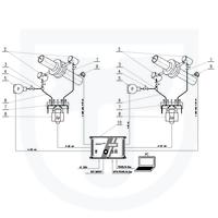 Měření tepla předaného parou, přímá metoda, dvouokruhový clonový měřič se 2 kondenzačními nádobami