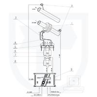 Měření tepla předaného vodou s měřením průtoku v přívodním potrubí clonovým měřičem pomocí INMAT 57D s kaskádovým zapojením snímačů tlakové diference