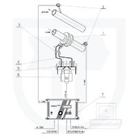 Měření tepla předaného vodou s měřením průtoku ve vratném potrubí clonovým měřičem pomocí INMAT 57D