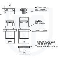 991 - Kabelové vývodky Ex d pro nepancéřované kabely s krytím IP68