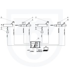 2x měření tepla předaného parou, nepřímá metoda, s ultrazvukovým průtokoměrem, společné nebo oddělené vyhodnocení