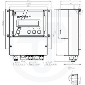 Převodník vodivosti pro měření vodivosti s indukčním snímačem ZEPACOND 800